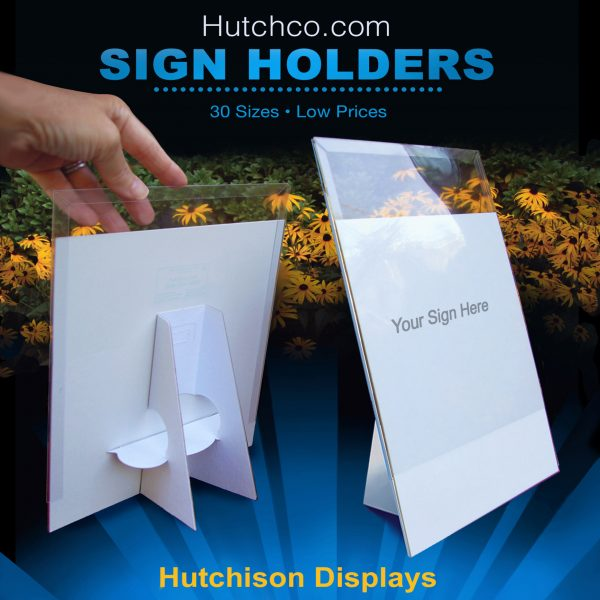 Sign Frames With Easel, Plastic Cover Sleeve