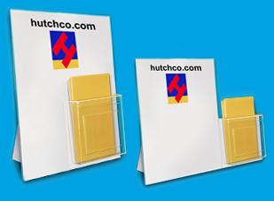 Brochure Holder Display Combo   Easel Sign Holders w/ Pockets   HUTCHCO
