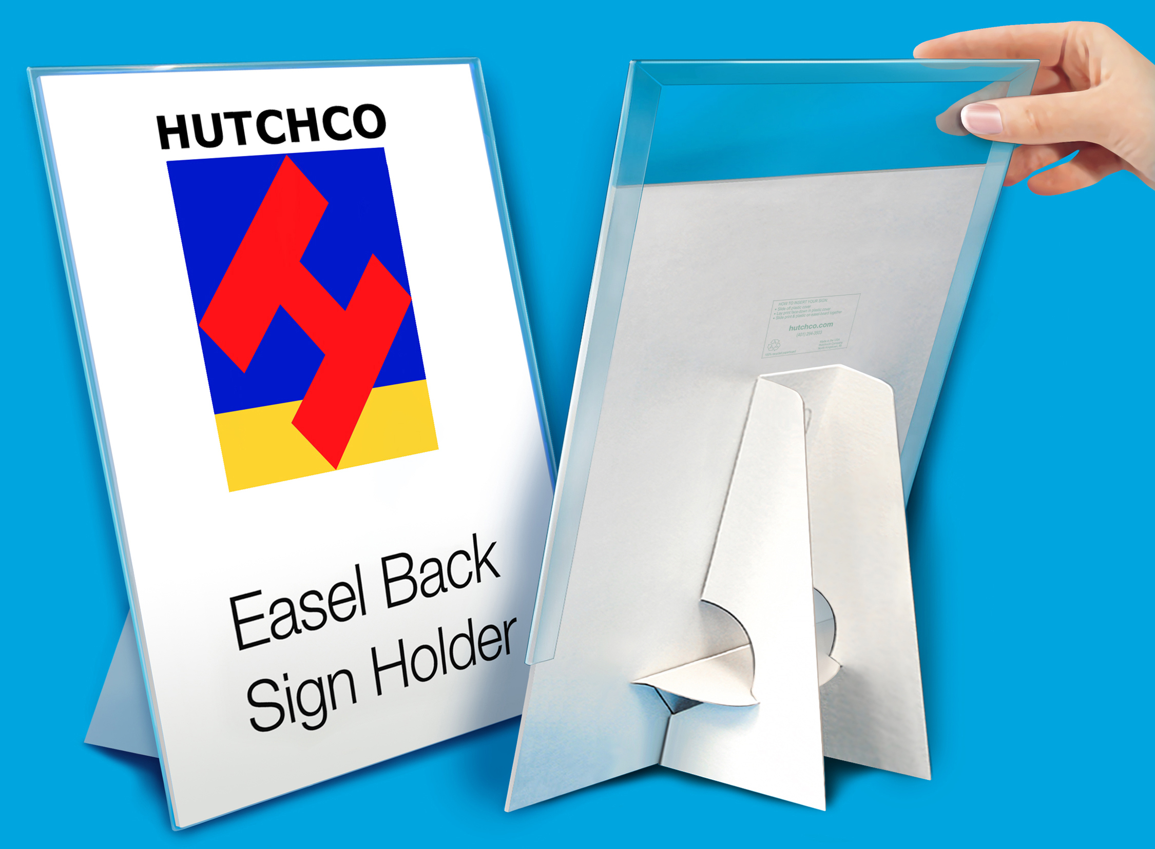 Easel Back Sign Holder Hutchco Cardboard Easel Plastic Sign Holders