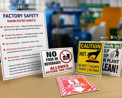 Fabulous Workplace Safety Compliance Signs Using Tabletop Wallmount Download Free Architecture Designs Scobabritishbridgeorg