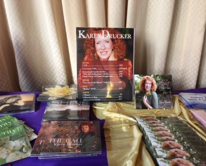 15 Minutes of Fame: Karen Drucker Displays Hutchco Easel Back Sign Holders at Musical Events